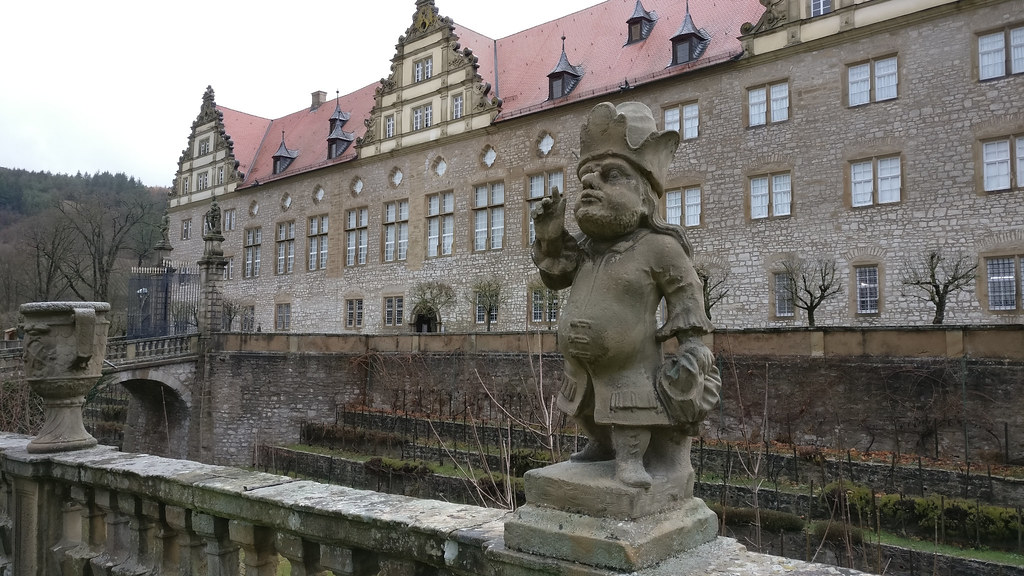 Statue from the Dwarf Gallery in the Weikersheim Castle
