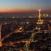 Paris au crépuscule depuis la Tour Montparnasse (I)