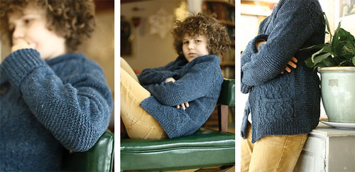 Gudrun's beautiful prototype of Little Wave knit for her son