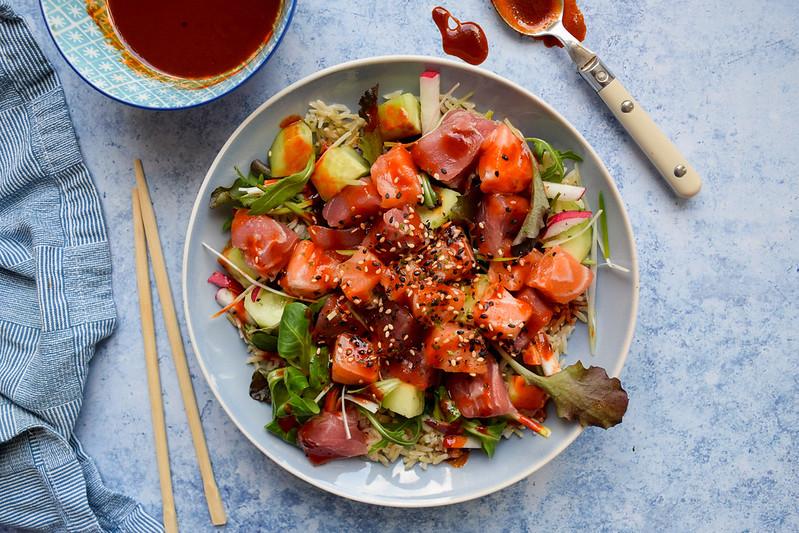 Korean Sashimi Salad Bowl