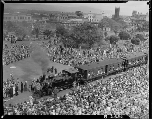 "<p>A special train steamed in to Palmerston North on 19 March 1952 as part of its 75th Jubilee Celebrations<br /> <br /> This was the fifth day of celebrations in the town marking its elevation to borough status in 1877. According to the official event brochure  Palmerston North was ""richly endowed with a salubrious climate, a fertile soil and many special conditions."" The train event commemorated the arrival of the first train from Wellington and was followed by a parade round the square and  a cavalcade of transport through the ages.<br /> <br /> Shown here is a Railways image of the crowd greeting the train as it arrived in Palmerston North<br /> .<br /> AAVK 6390 W3493/179 B2682<br /> <a href=""https://www.archway.archives.govt.nz/ViewFullItem.do?code=25620686"" rel=""noreferrer nofollow"">www.archway.archives.govt.nz/ViewFullItem.do?code=25620686</a><br /> <br /> More information can be found here:  <br /> <a href=""https://manawatuheritage.pncc.govt.nz/item/478f9248-f80a-44d0-8959-6ac3a02cc1e1?child=79574c69-0485-47db-9653-34fe51fd1fcc"" rel=""noreferrer nofollow"">manawatuheritage.pncc.govt.nz/item/478f9248-f80a-44d0-895...</a> <br /> <br /> For updates on our On This Day series and news from Archives New Zealand, follow us on Twitter <a href=""http://www.twitter.com/ArchivesNZ"" rel=""noreferrer nofollow"">www.twitter.com/ArchivesNZ</a> <br /> <br /> Material supplied by Archives New Zealand.</p>"