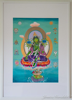 Green Tara framed