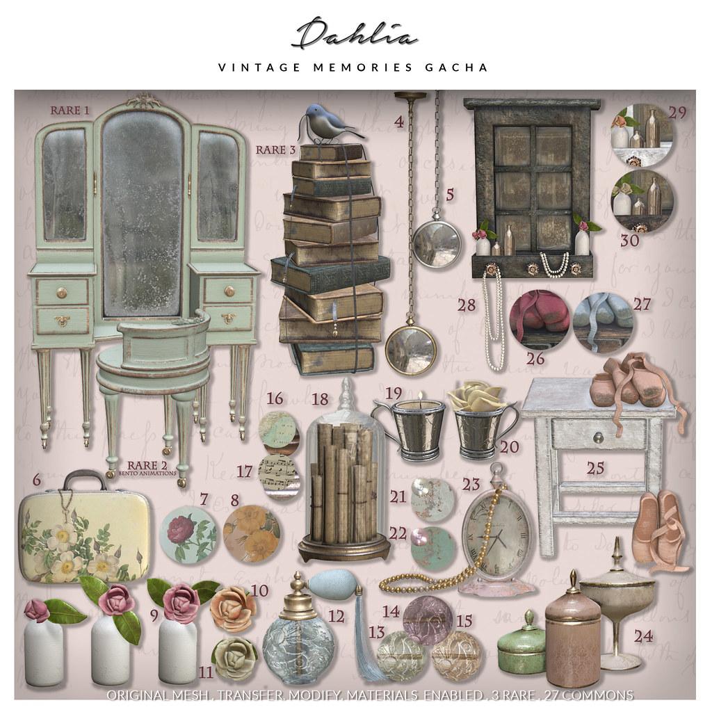 Dahlia – Vintage Memories – Gacha Key