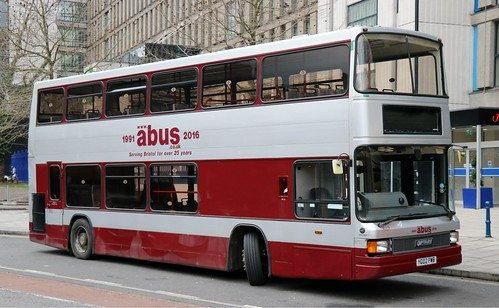 Abus, Bristol YG02FWB on layover in the City Centre.