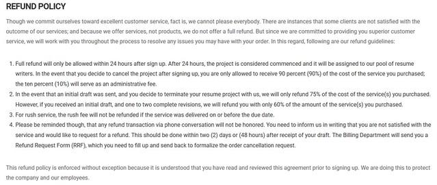 resumevalley refund