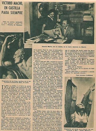 Entrevista a Victorio Macho el 23 de noviembre de 1952 en ABC