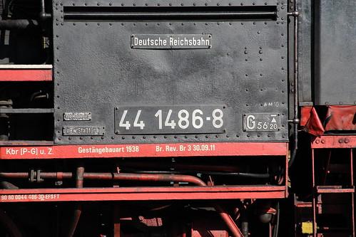 2018-10-20; 0153. ZL ETB 44 1486-8  en SL IGE Werrabahn 52 1360-8 met GZ 404. Immelborn. Plandampf im Werratal, Dampffinale.
