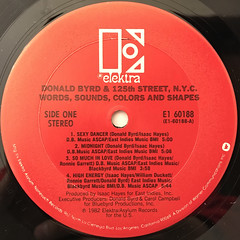 DONALD BYRD AND 125TH STREET, N.Y.C.:WORDS, SOUNDS,COLORS AND SHAPES(LABEL SIDE-A)