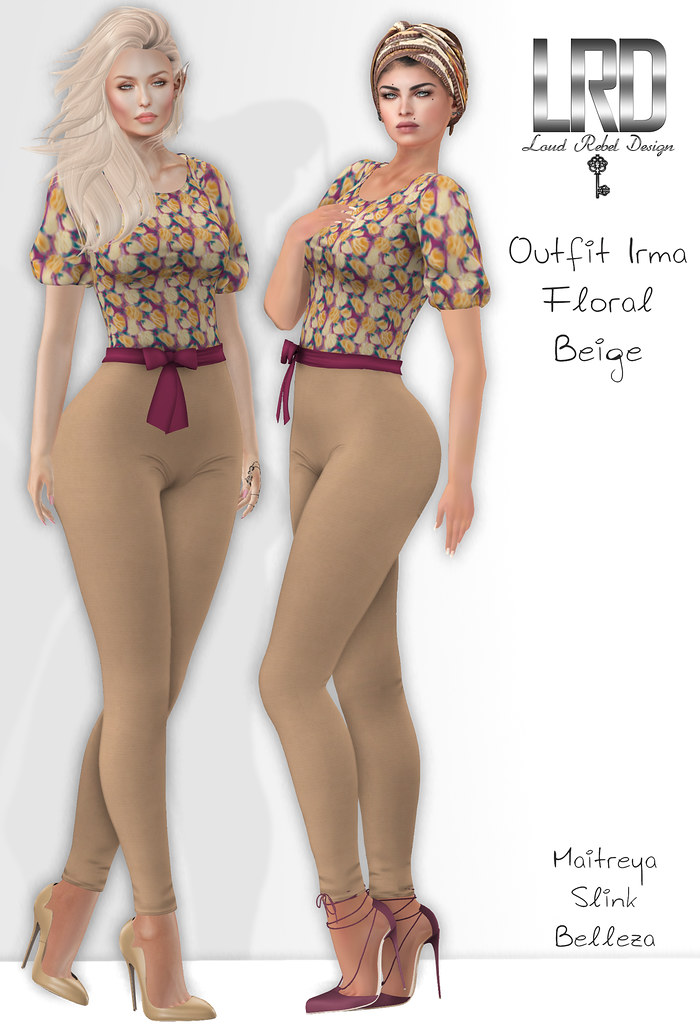 LRD outfit Irma Floral Beige