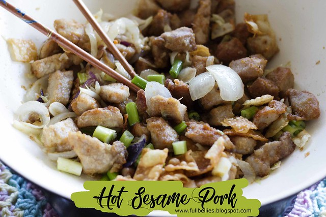 Hot Sesame Pork