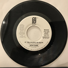 JEAN CARN:IF YOU WANNA GO BACK(RECORD SIDE-B)