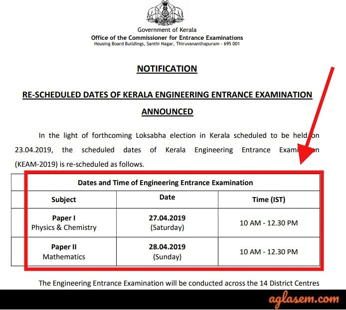 KEAM 2019 Exam Re-scheduled Due to Loksabha Elections; Check Revised Dates Here