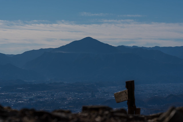 秩父盆地と武甲山
