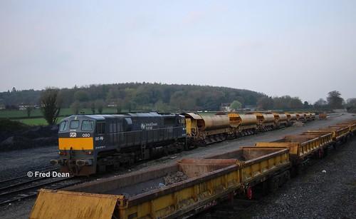 Irish Rail 080 in Portarlington.