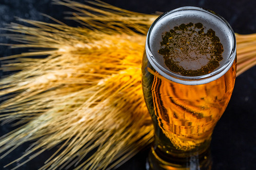 Light beer with wheat spikelets | by wuestenigel