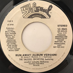 THE SALSOUL ORCHESTRA:RUN AWAY(LABEL SIDE-B)