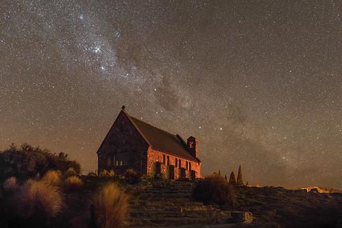 Milky Way, Church of the Good Shepherd, Tekapo, New Zealand