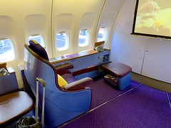 Excellent business class flight to India last night