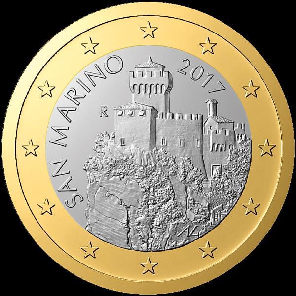 1 euro San Marino 2017