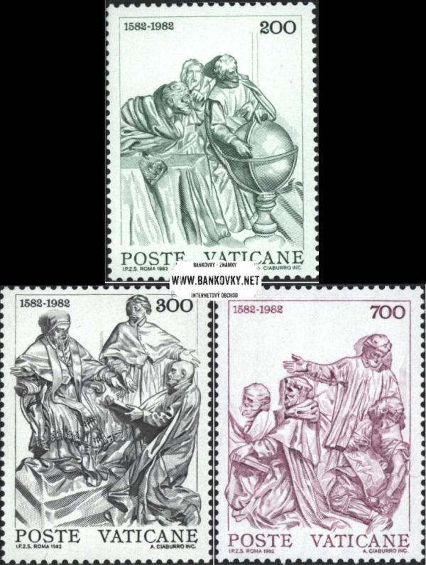 Známky Vatikán 1982 Gregoriánsky kalendár, neraz. séria MNH