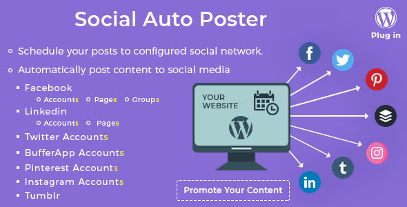 Social Auto Poster v3.0.2 - WordPress Plugin