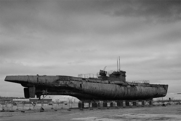 German World War II U Boat 534 at Birkenhead Docks, Merseyside, England. Photo taken on March 4, 2007.