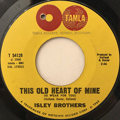 ISLEY BROTHERS:THIS OLD HEART OF MINE(LABEL SIDE-A)