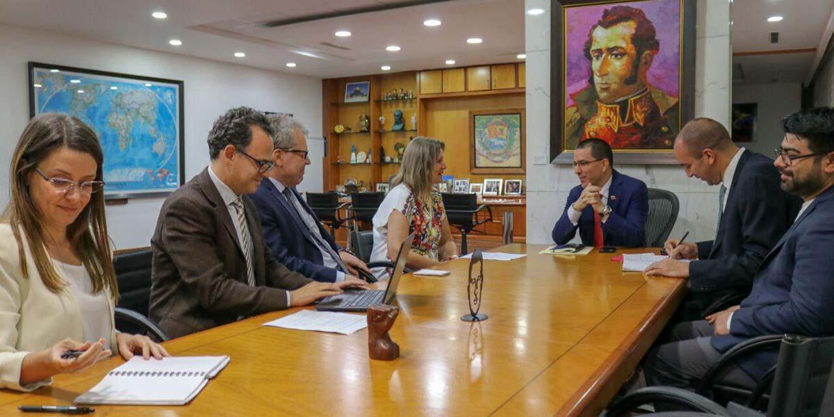 Reunión del canciller Arreaza con delegación de DDHH de la ONU