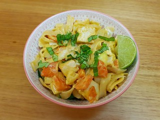 Thai Rice Noodles with Tofu and Mixed Vegetables