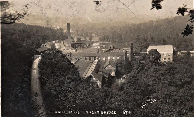 Postcard Dixons Mills Oughtibridge Sheffield