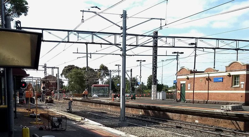 Caulfield station: works January 2019