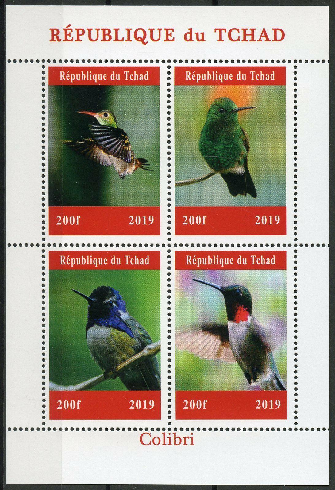Republic of Chad - Hummingbirds (January 1, 2019) sheet of 4