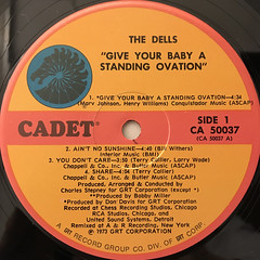 THE DELLS:GIVE YOUR BABY A STANDING OVATION(LABEL SIDE-A)
