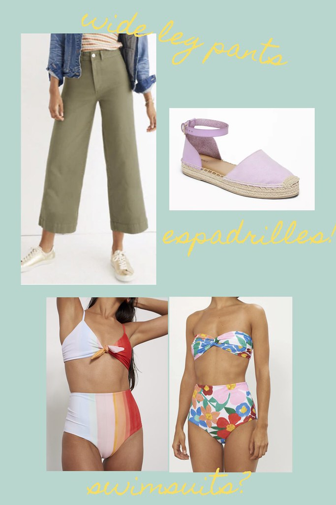lilac, suede loafers, lilac crop top, wide leg pants, Madewell, Priya the Blog My One Spring Purchase, Nashville fashion blog, Nashville fashion blogger, Nashville style blog, Nashville style blogger, Spring 2019 fashion, shopping, Spring 2019, Spring fashion, swimsuits, Mara Hoffman, linen dress, J.Crew, espadrilles, Old Navy, rainbow sweater, teddy fleece,