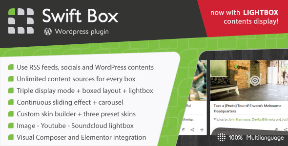 Swift Box v2.1 - Wordpress Contents Slider and Viewer