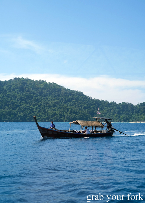Long tail boat for our tour of the Surin Islands in Khao Lak, Thailand