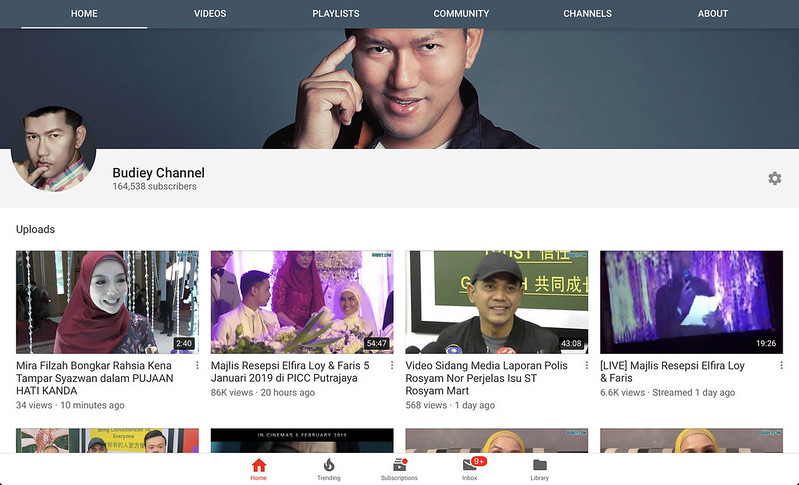 Saluran Youtube Budiey.com 7 Januari