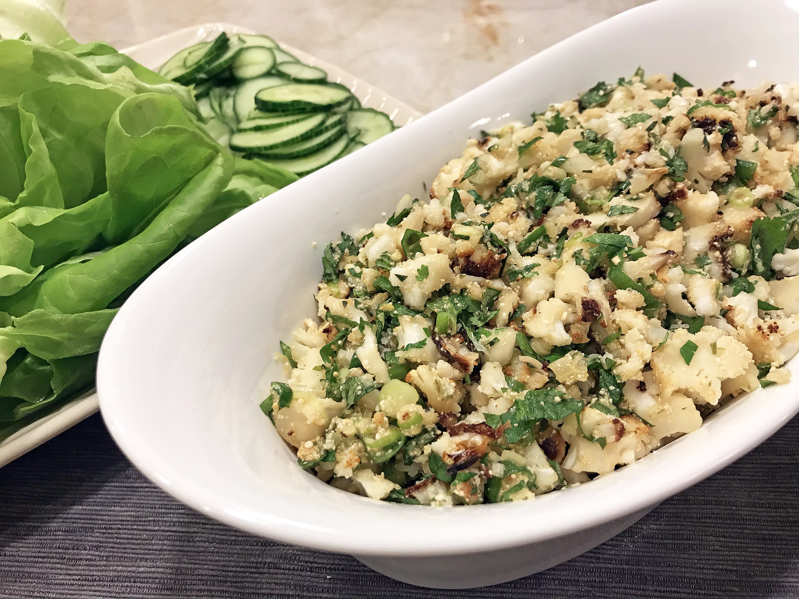 Cauliflower larb