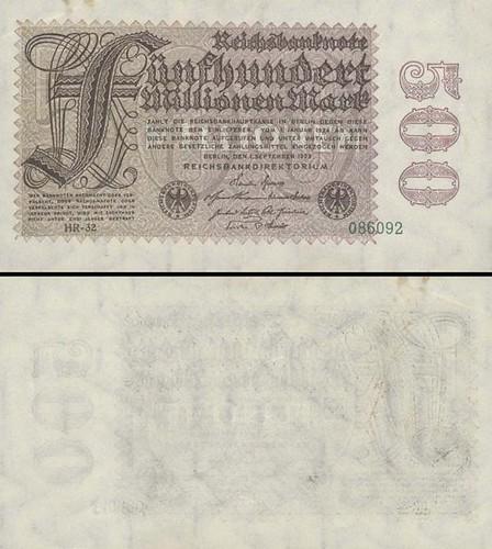 500 Miliónov Mariek Nemecko 1923, P110