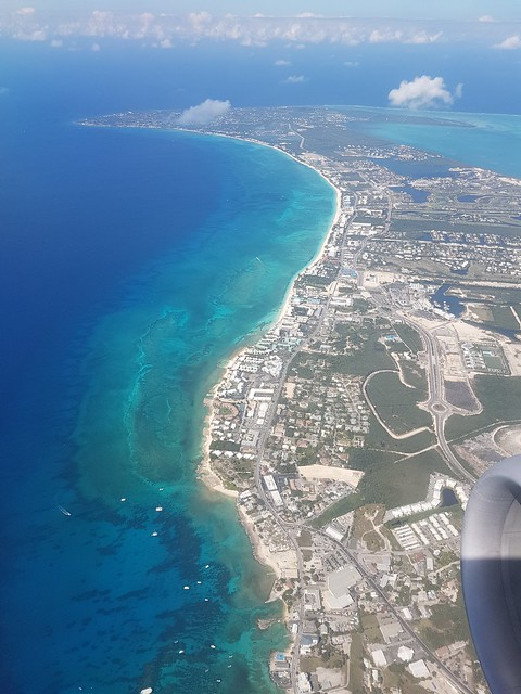 Flying into Grand Cayman 2019