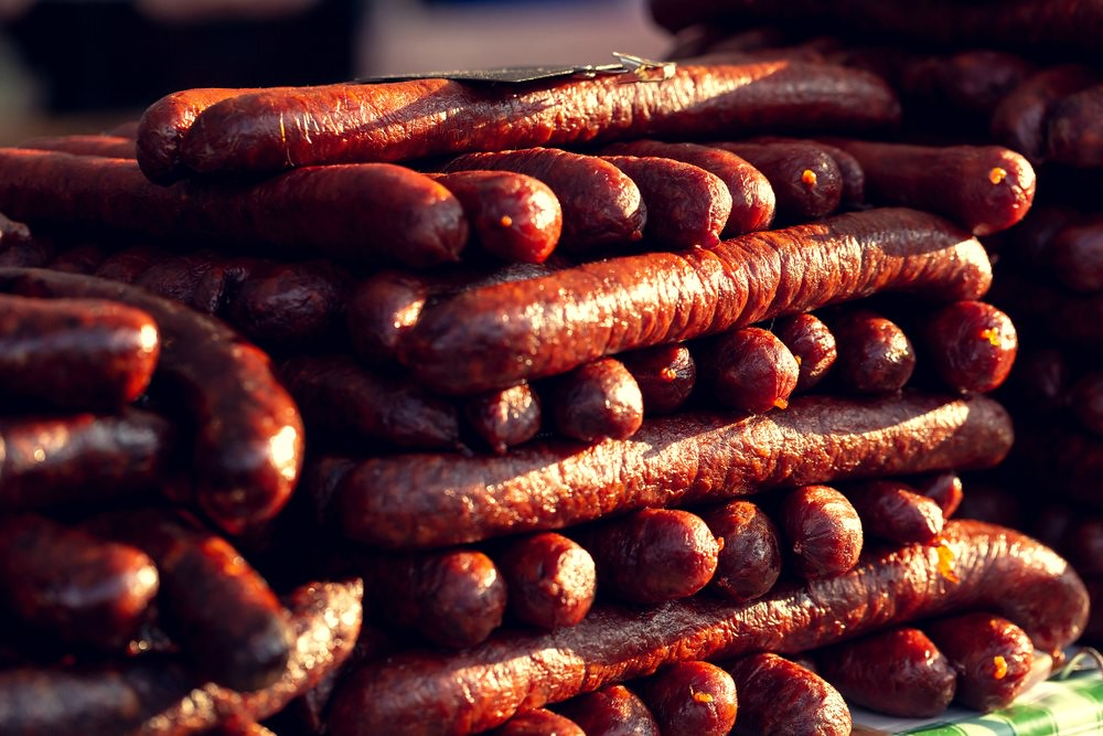 What to eat in Budapest - Hungarian Sausage