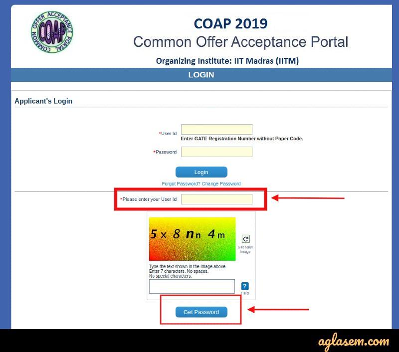 GATE COAP 2020 Login - Process to Create COAP 2020 Login