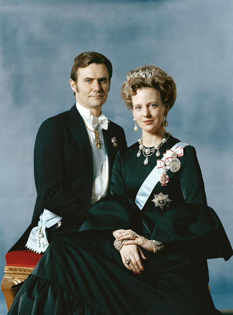 Prince Consort Henrik and Queen Margrethe II of Denmark, February 1972.