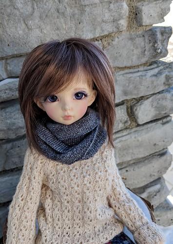 megs linen stitch cowl
