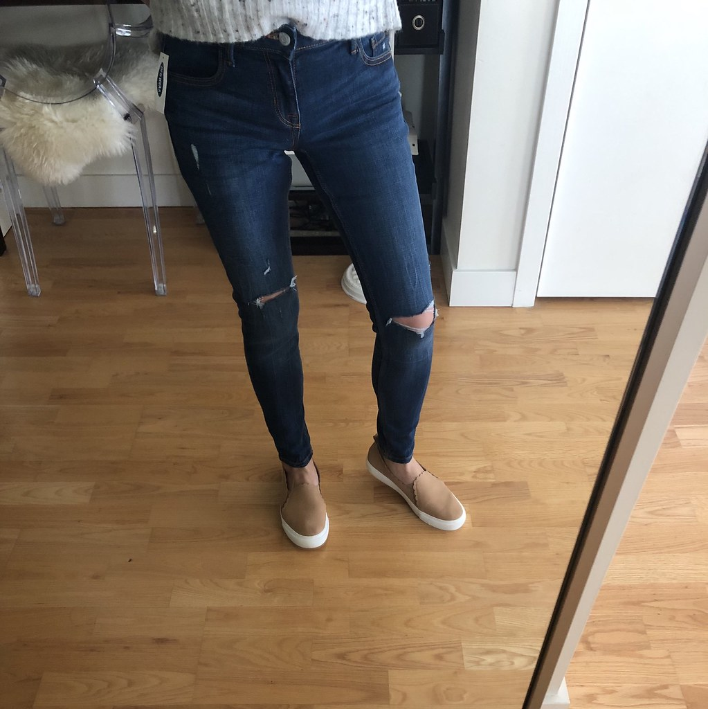 4f7065d937a ... Old Navy Mid-Rise Distressed Rockstar Super Skinny Jeans in dark worn