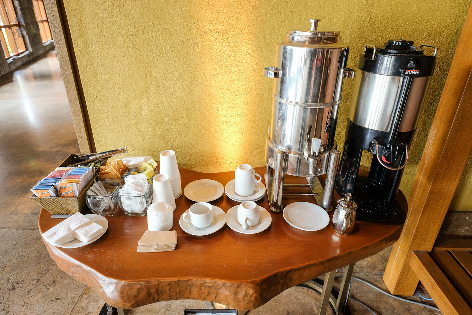 Coca tea at the lobby