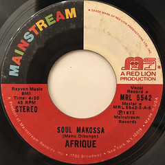 AFRIQUE:SOUL MAKOSSA(LABEL SIDE-A)