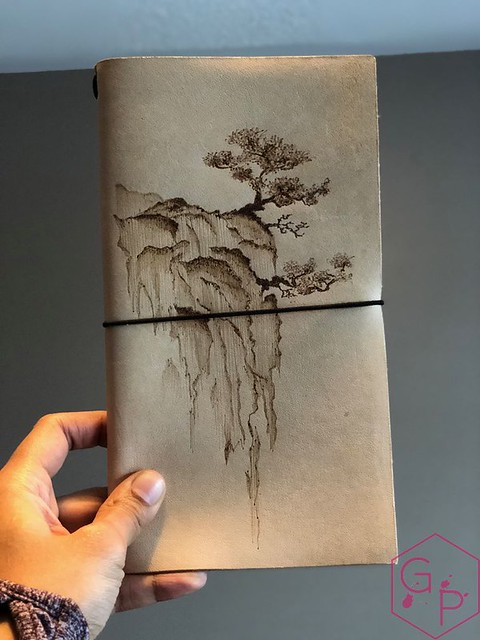 Toronto Pen Company Traveler's Notebook Leather Covers with Pyrography & Paintings 37