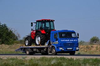 Kamaz-4308 tow truck. Photo from Gorodishchensky District, Volgograd Oblast, Russia.