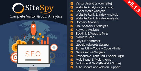 SiteSpy v5.1.1 – Complete Visitor & SEO Analytics